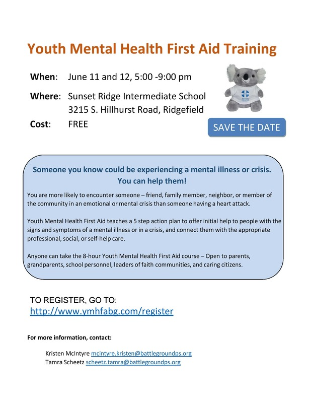 Free Training in Mental Health First Aid