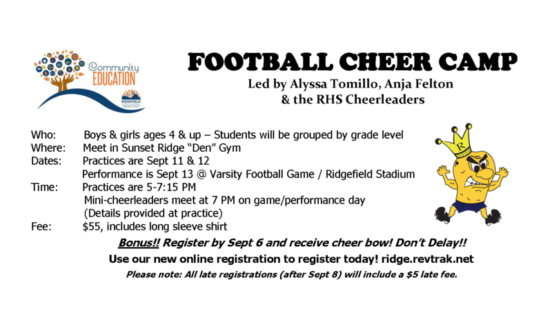 Football Cheer Camp Registration Now Open