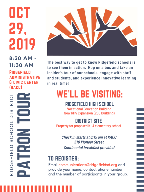 Ridgefield School District Schedules Patron Tour on October 29th