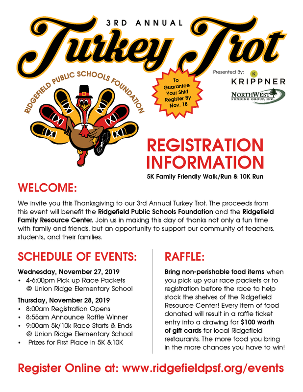 3rd Annual Turkey Trot Walk/Run Set for November 28th