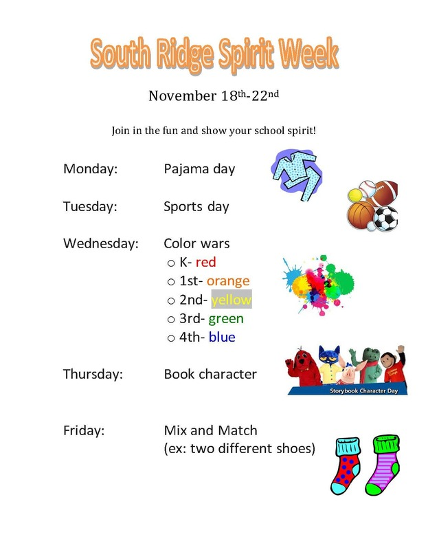 Spirit Week November 18th-22nd