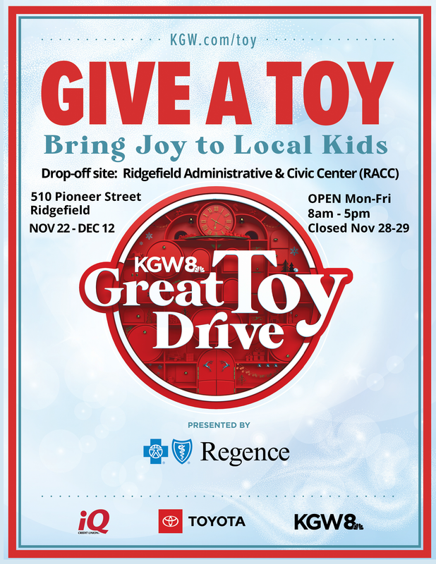 RACC is Drop-Off Site for KGW Great Toy Drive
