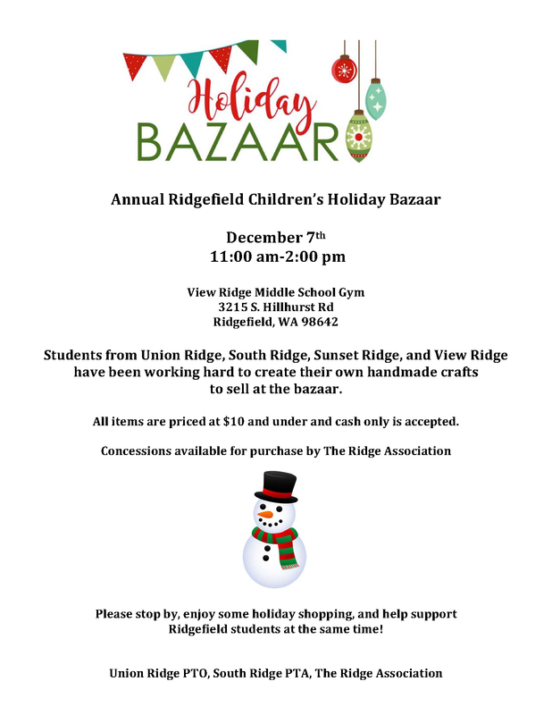 Ridgefield Children's Holiday Bazaar Set for Saturday, December 7th